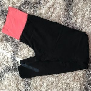 Mossimo black leggings w/ pink band.  Size small
